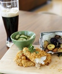 CORN-FLAKE CRUSTED FISH AND CHIPS